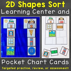 2D shape sort cards