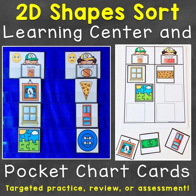 2D shape sort cards