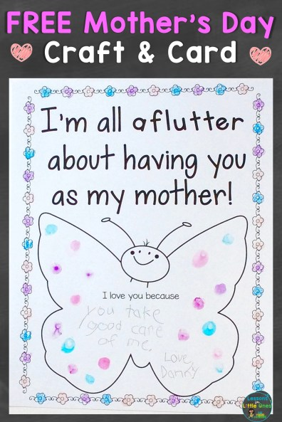 Mother S Day Craft Free Download Lessons For Little Ones By Tina
