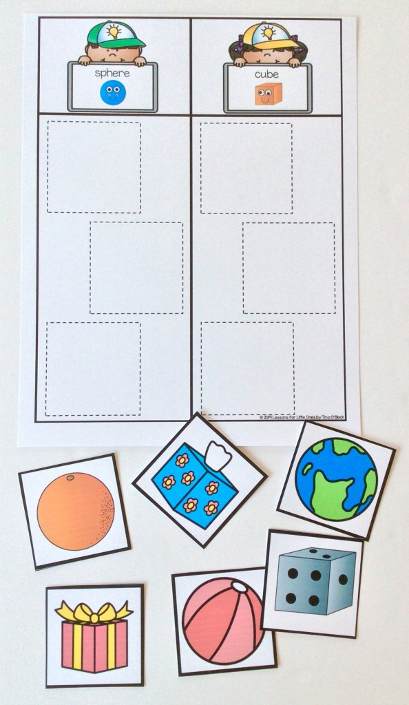 sorting activity with a sorting mat