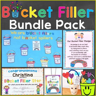 Bucket Filler Activities Awards Bundle