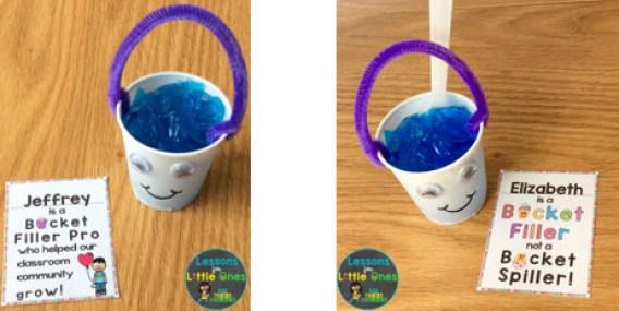 bucket filler snack - blue jello