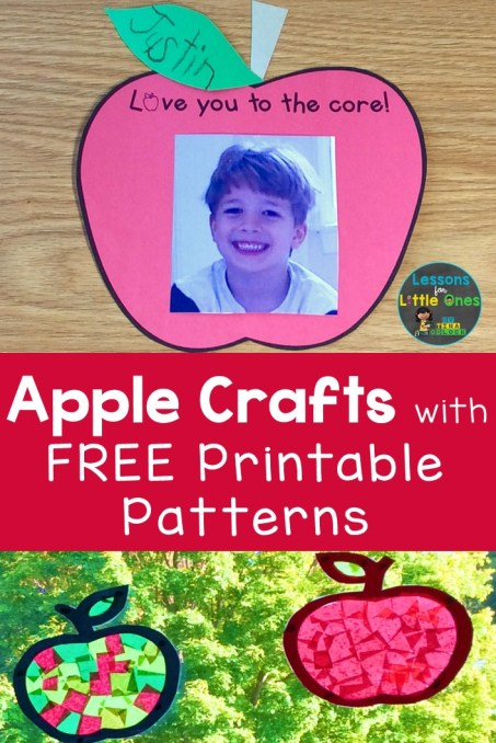 apple crafts with free printable patterns