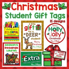 Christmas Student Gift Tags Editable