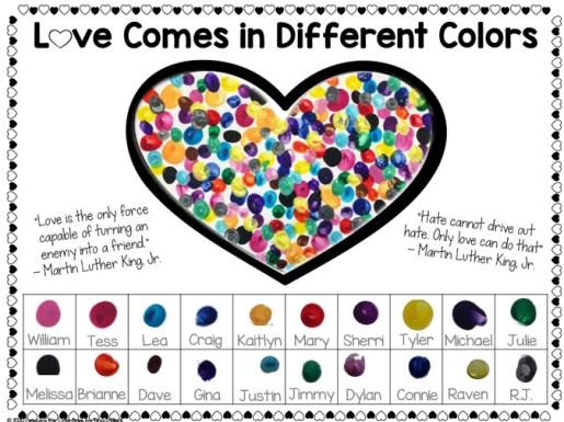 Martin Luther King Jr. fingerprint art