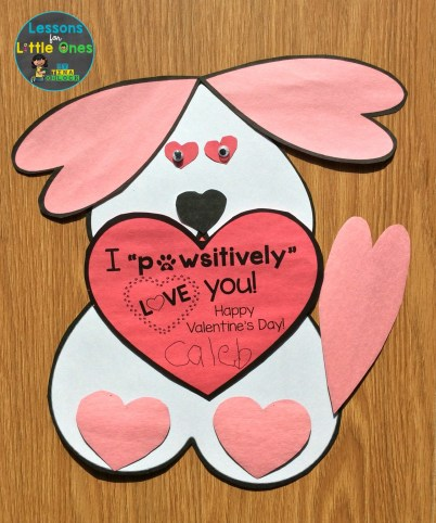 heart dog valentines day card