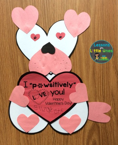 student-made valentines day card for parents