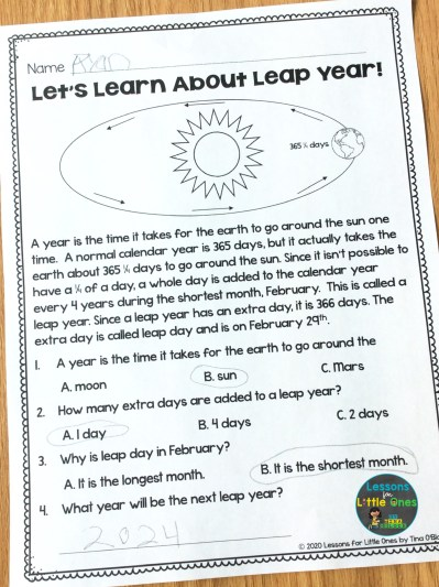 leap year facts for kids