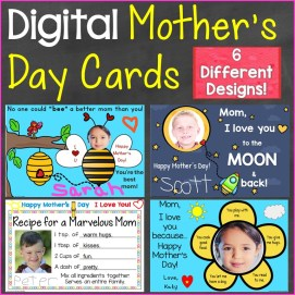 Mother's Day Cards, Digital Cards for Distance Learning