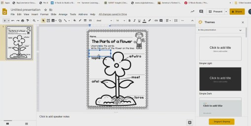 Using PDF Files in Google Slides, Google Classroom