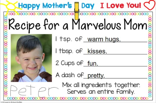Mother's Day Card Digital for Distance Learning