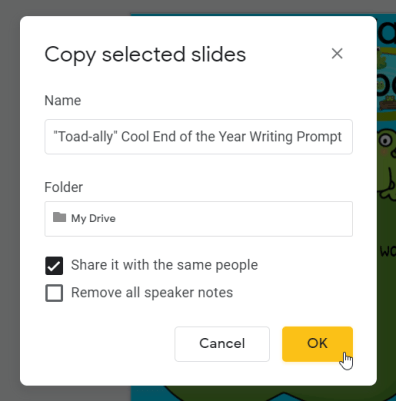 How to Assign Part of a Google Slide to Students