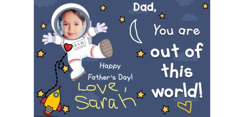 Father's Day Card for Distance Learning