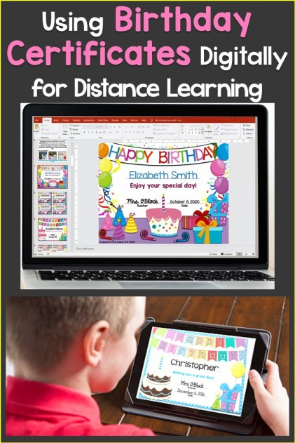 How to Send Student Birthday Certificates Digitally for Distance Learning