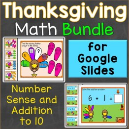 Thanksgiving Number Sense Addition to 10 Google Classroom