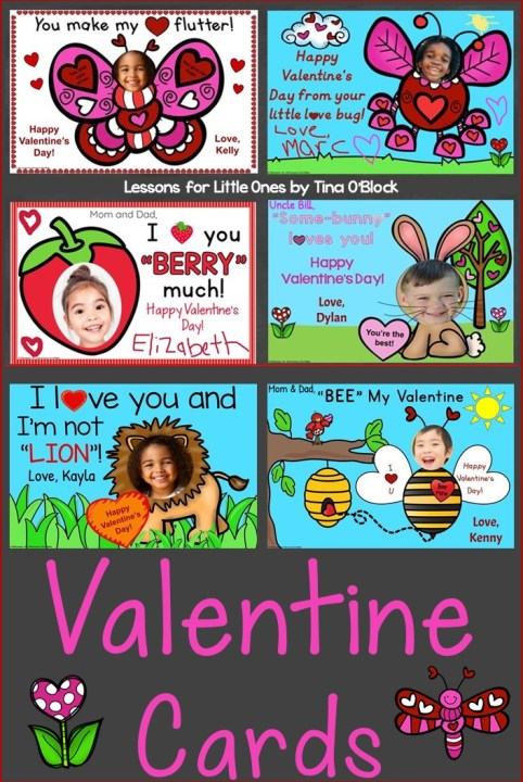 Valentine's Day Cards Digital for Distance Learning
