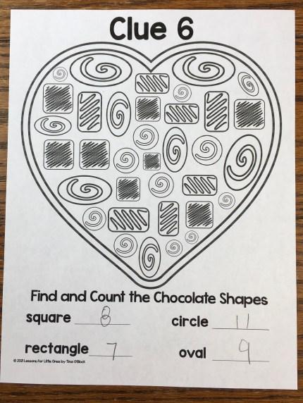 escape room clue math shapes
