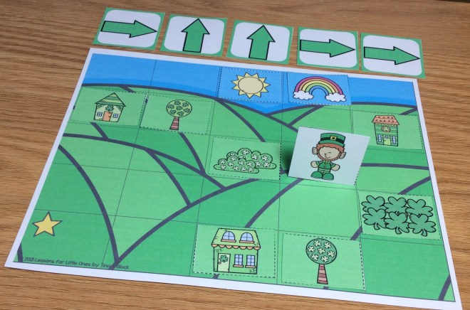 St. Patrick's Day coding activity unplugged