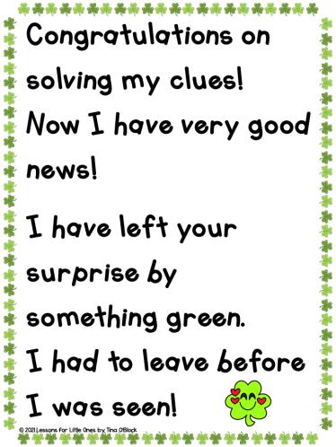 escape room note from leprechaun