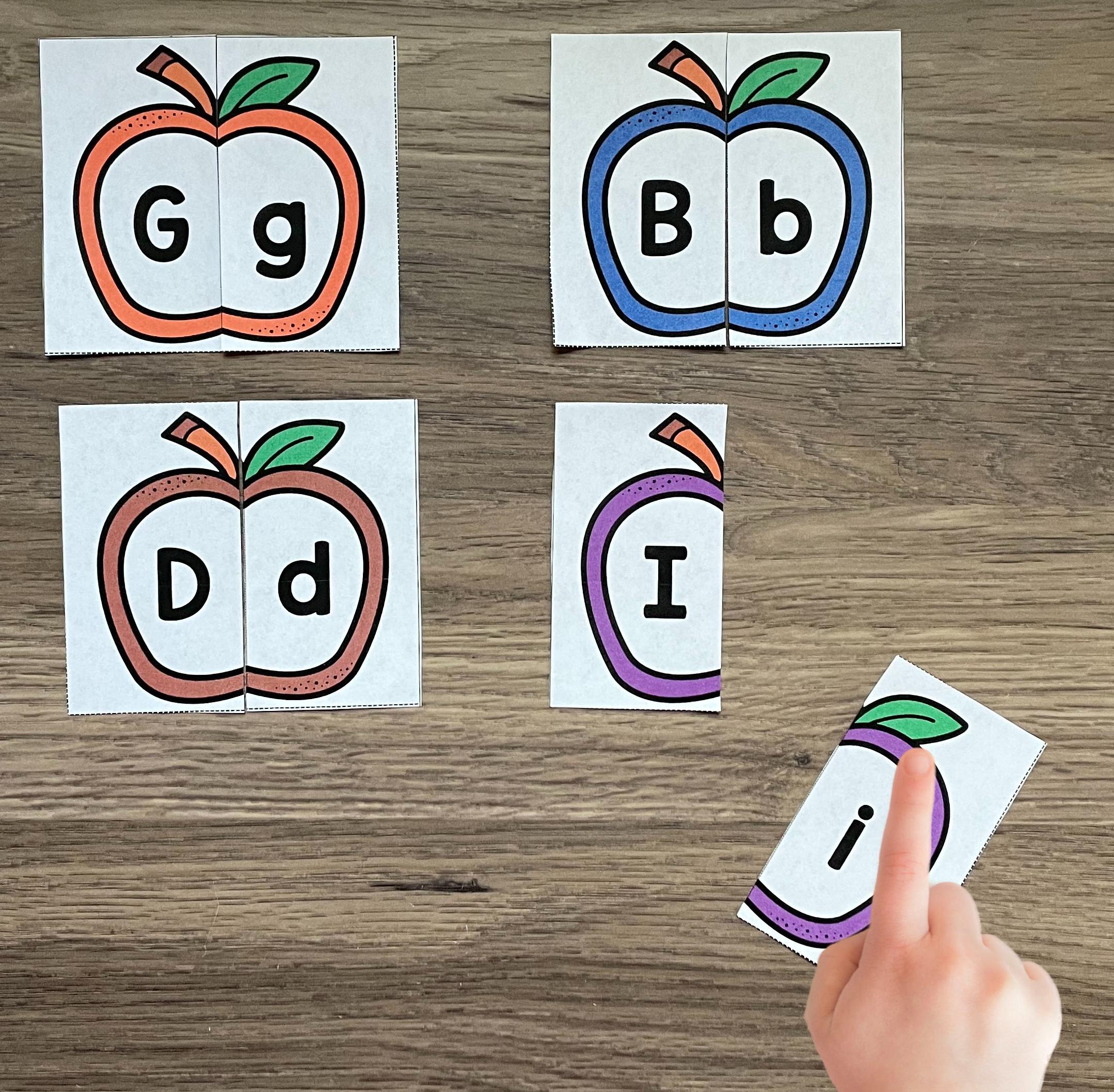 apple puzzle alphabet