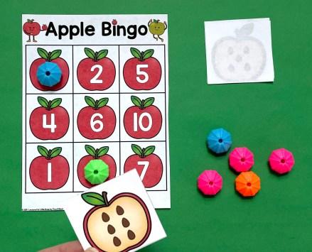 differentiated apple bingo game