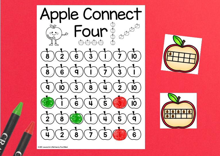 apple Connect 4 math game