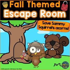 Escape Room Fall Theme Kindergarten First Grade