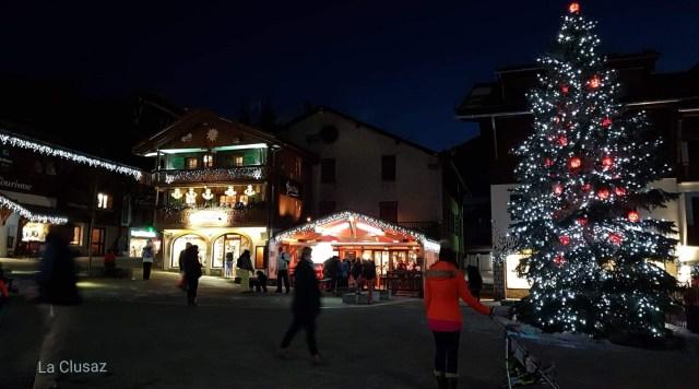 village dans la nuit