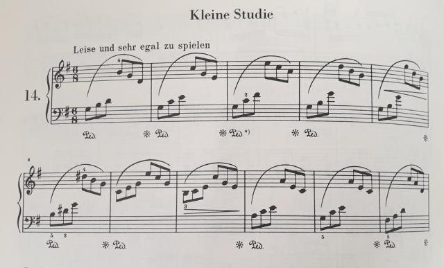 partition piano Petite Etude Schumann