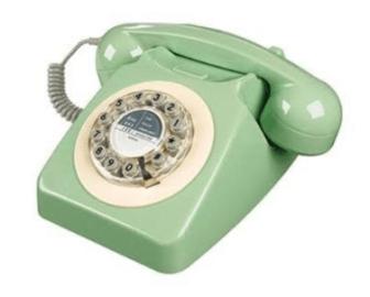Téléphone vert années 70