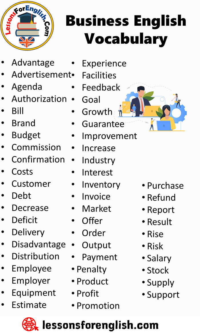 Business English Vocabulary - Lessons For English