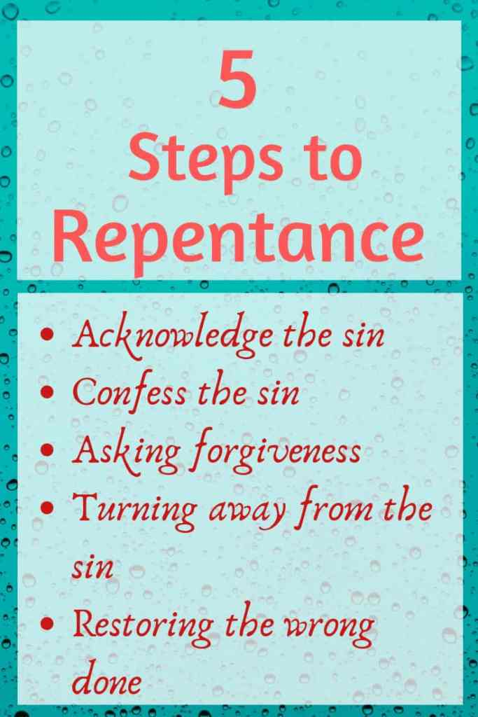 signs of true repentance