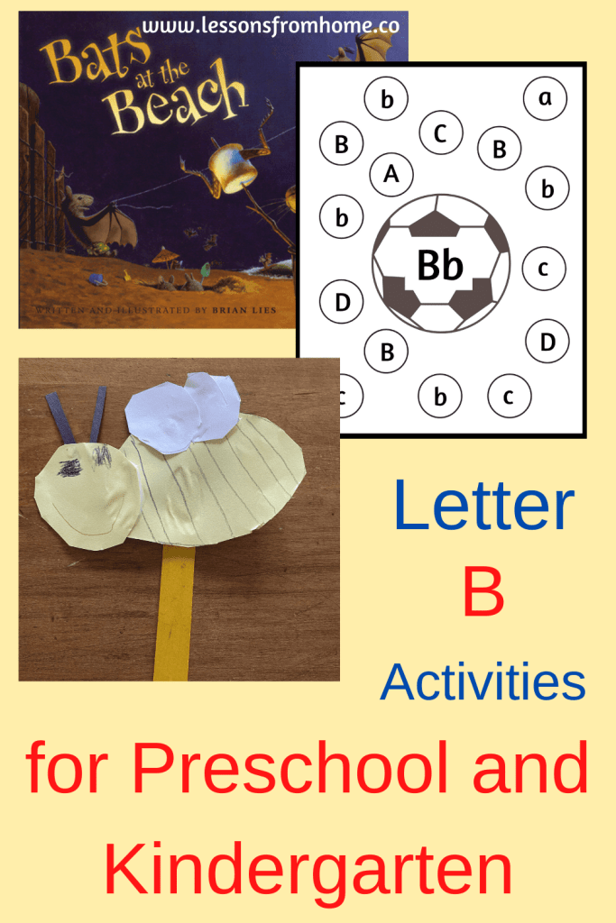preschool activities for the letter b