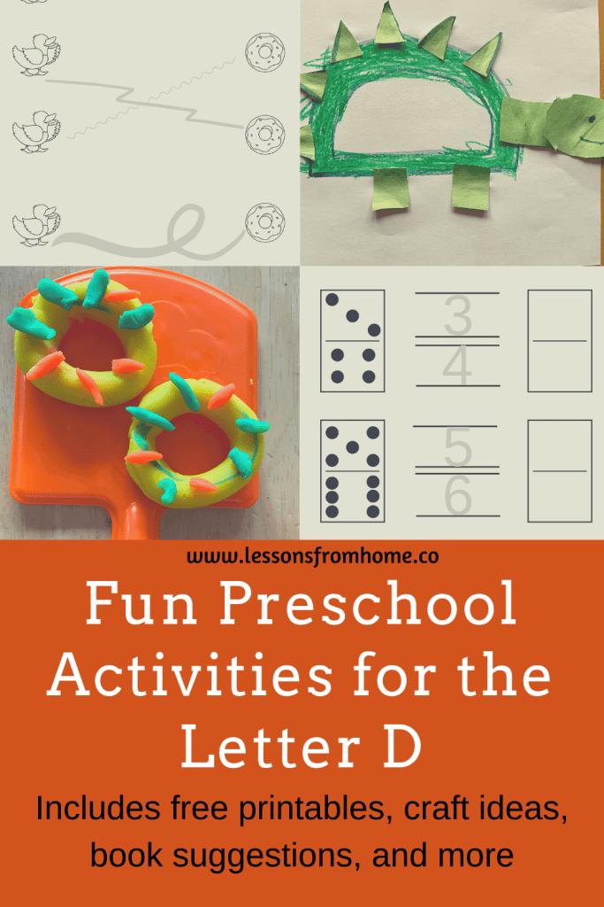 preschool activities for the letter D