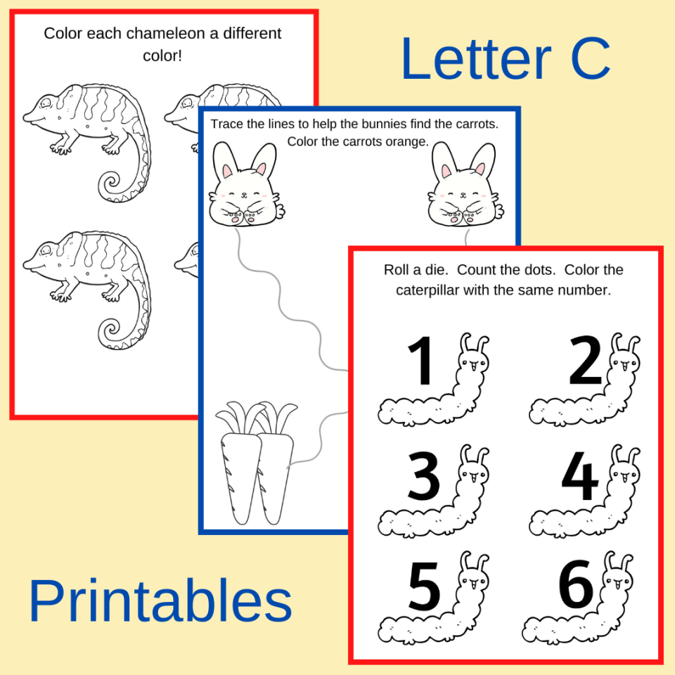 letter c activities and worksheets