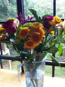 Flowers in the Vitamix. That's how we roll:)