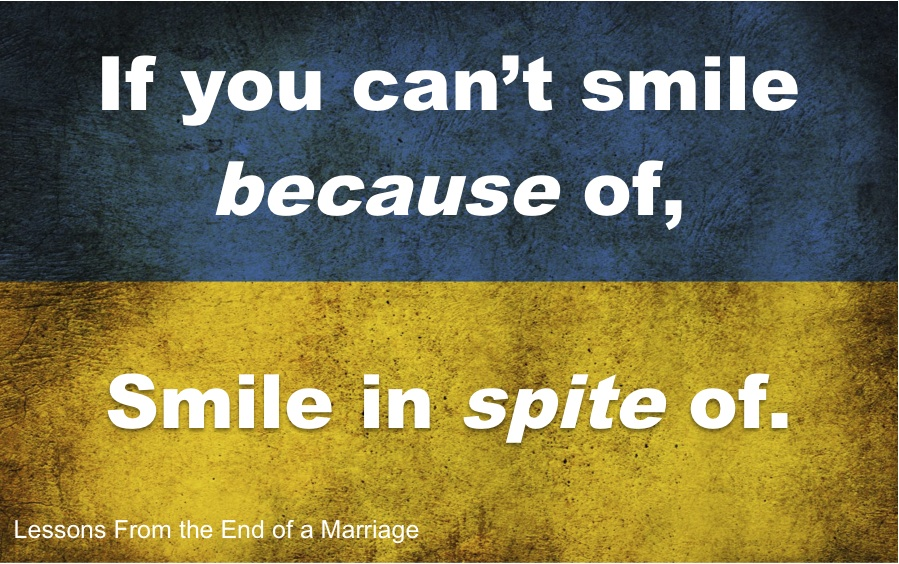 Image result for lessons from the end of a marriage smile