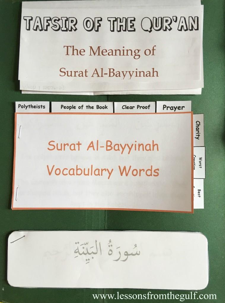 Surat Al Bayyinah : surat, bayyinah, Surat, Al-Bayyinah, Lapbook, Templates, Lessons
