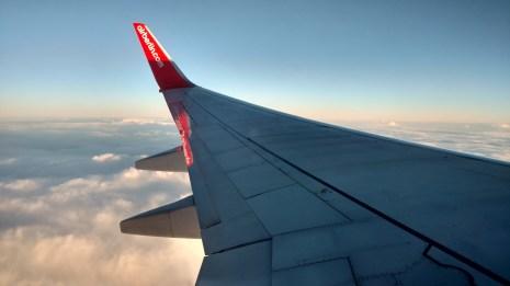 Flying to Berlin, 2016.