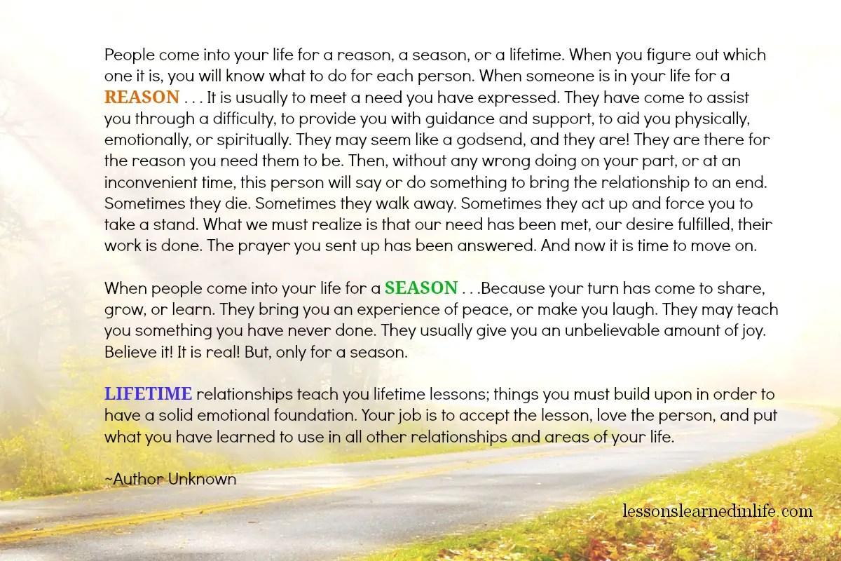 Lessons Learned In Lifereason Season Lifetime
