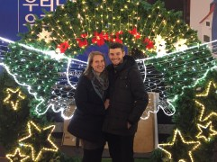 Photo op in Myeongdong