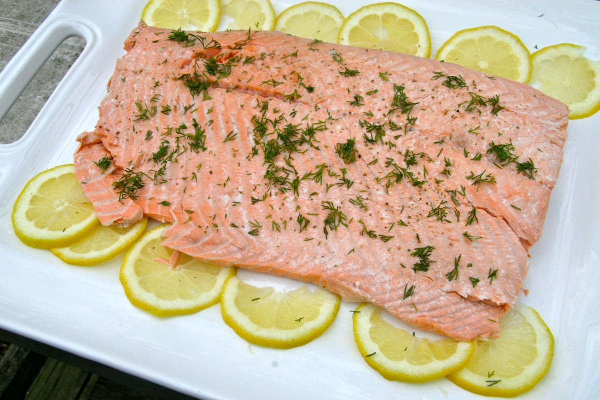 Cold Poached Salmon Dinner Party  Lessons from my Swedish