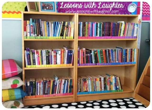 Rainbow Bookshelf Classroom