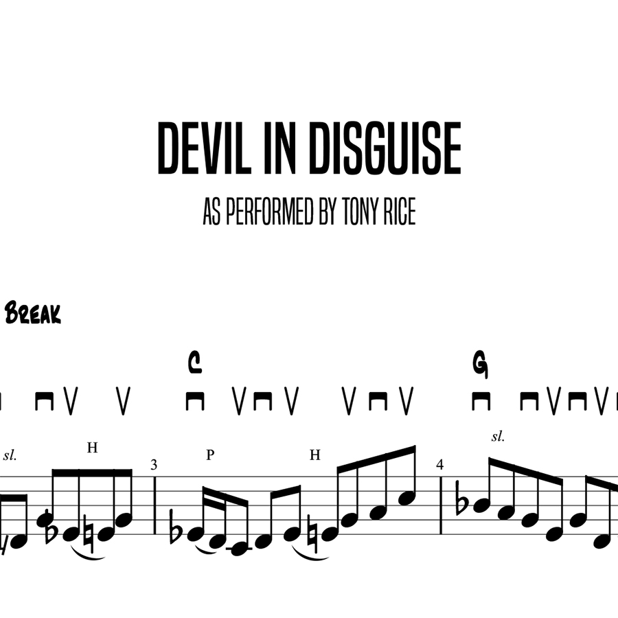 Devil In Disguise, Tony Rice (Advanced)