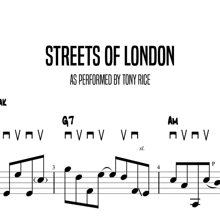 Streets Of London, Tony Rice (Advanced)