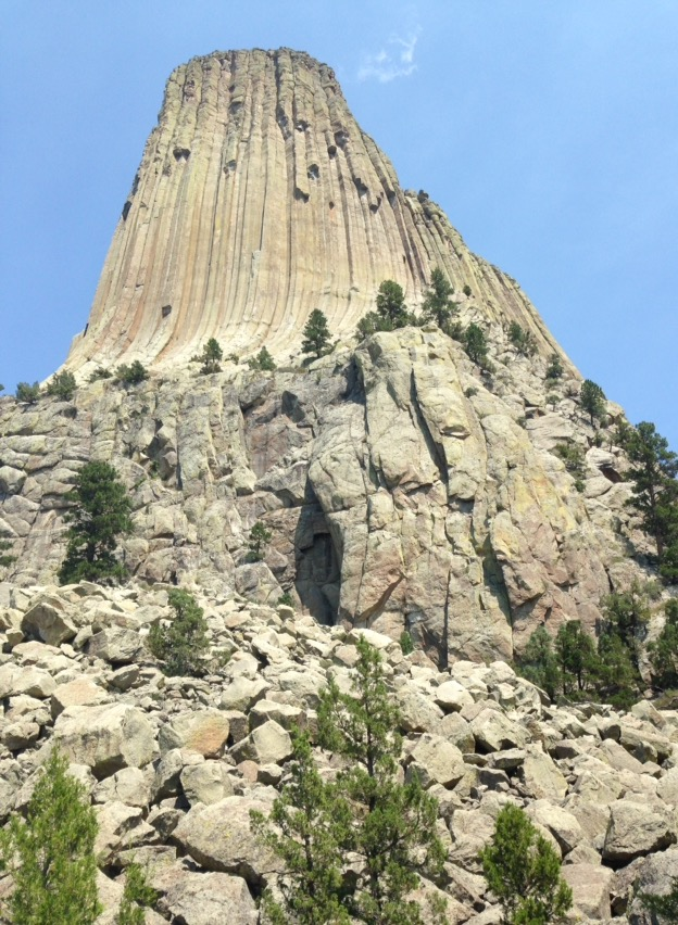 Devil's tower- climbing at rocky face north Carolina