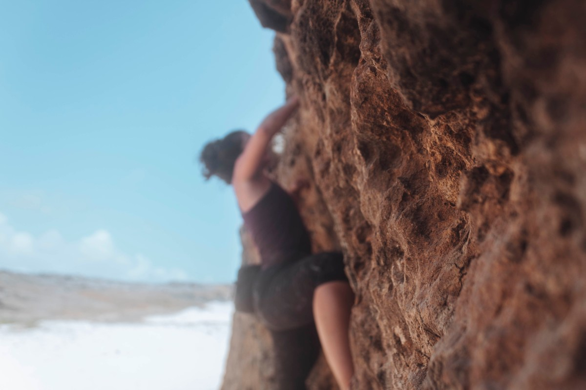 rock climbing in Aruba
