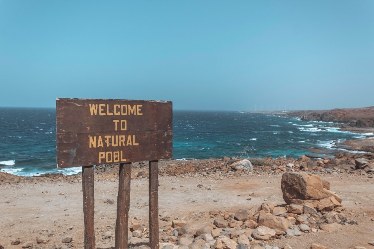 Natural Pools- welcome sign