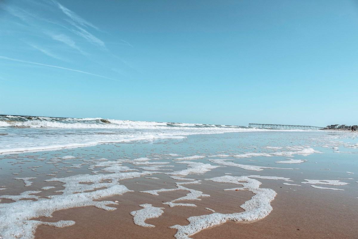 Freeman Park Carolina Beach -waves on the beach