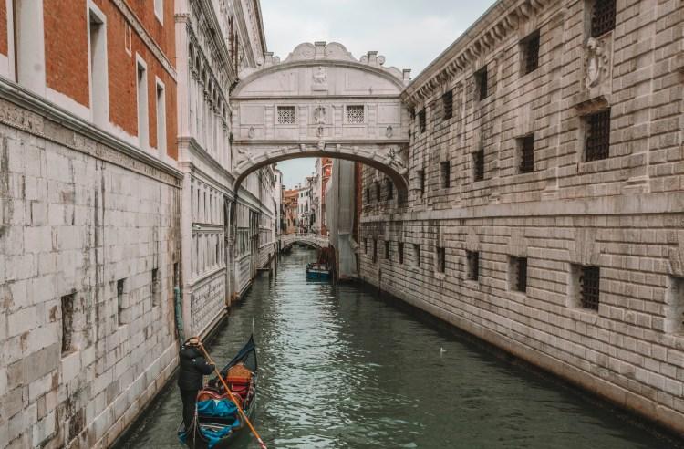 winter in Venice - Bridge of Sighs Venice Italy